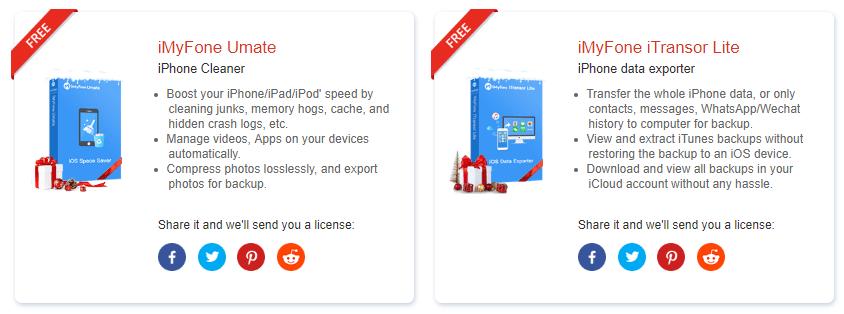 iMyFone Christmas 聖誕節限時免費活動