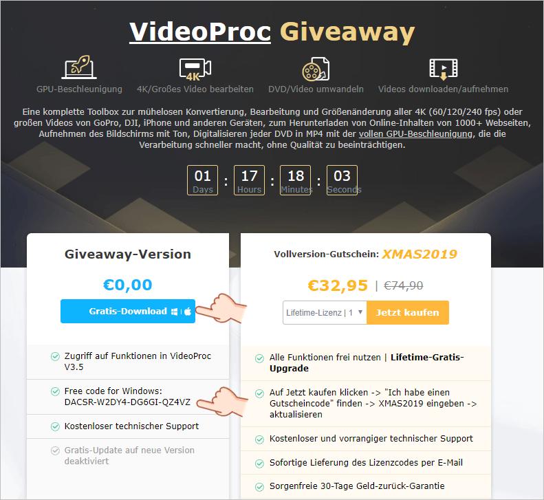 VideoProc 限時免費