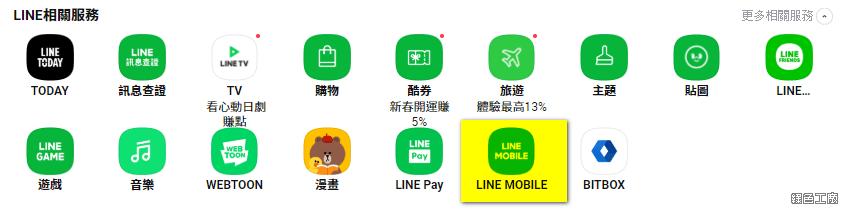 LINE HUB 全新入口網站 LINE 服務整合