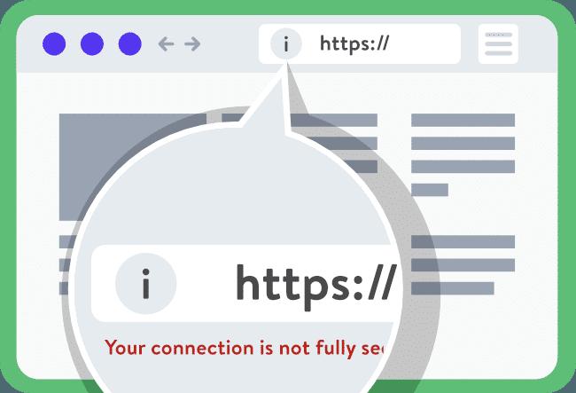 為什麼 https 沒有綠色鎖頭