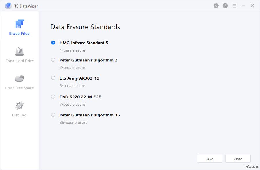 TS DataWiper 檔案徹底刪除不留痕跡