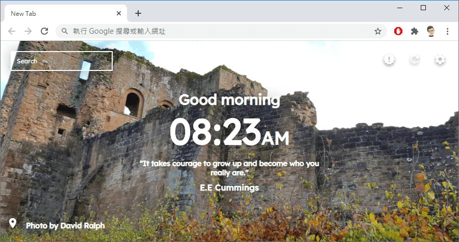 Muetab 高畫質隨機顯示新分頁圖 讓你轉換好心情的 Chrome 與 firefox 擴充功能