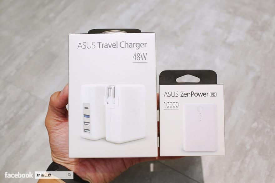 ZenPower 10000 PD、ASUS 48W旅行充電器