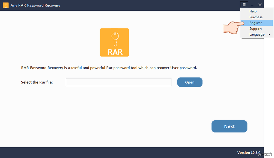 WinRAR 壓縮檔密碼破解 Any RAR Password Recovery