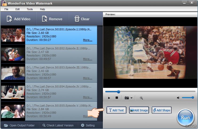 WonderFox Video Watermark 影片加浮水印軟體