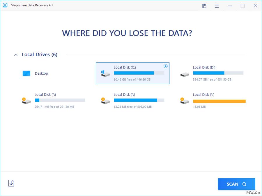 Magoshare Data Recovery 檔案救援工具