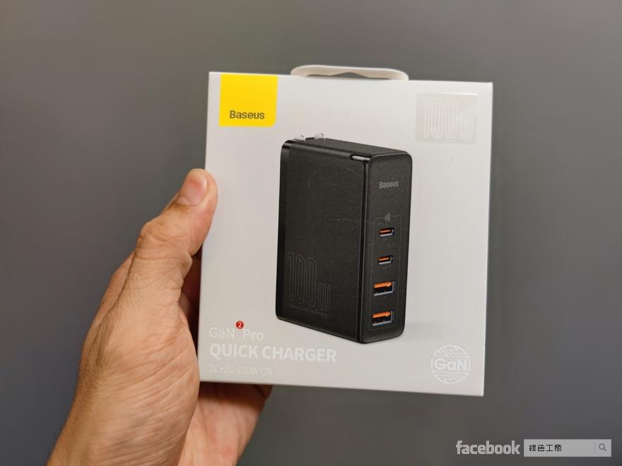 倍思 Baseus 100W GAN2PRO 4port USB PD QC 充電器 氮化鎵 65W ,Baseus倍思 Type-C數顯快充傳輸線 100W