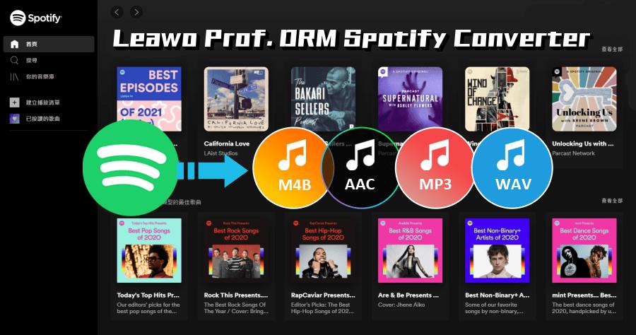 Spotify 音樂下載 Leawo Prof. DRM Spotify Converter