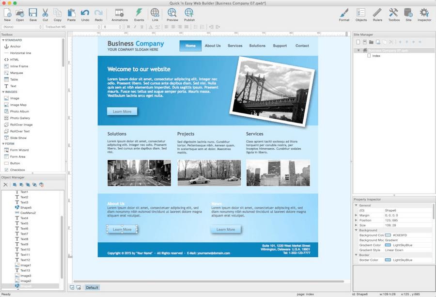 Quick'n Easy Web Builder 響應式視覺化網頁設計工具