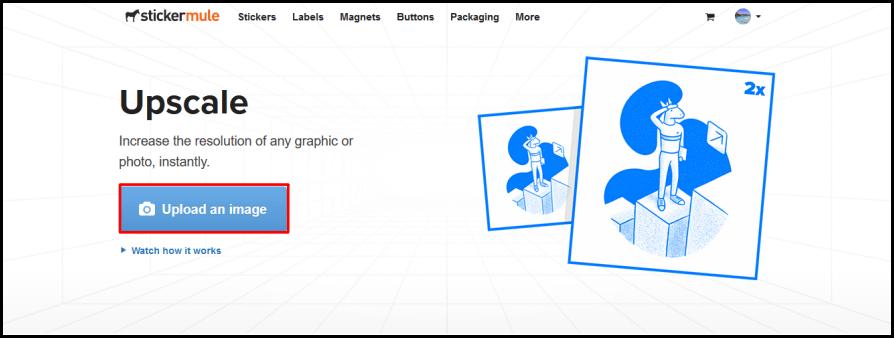 Upscale by Sticker Mule 有智慧的放大圖片線上工具,放大兩倍也絕不失真