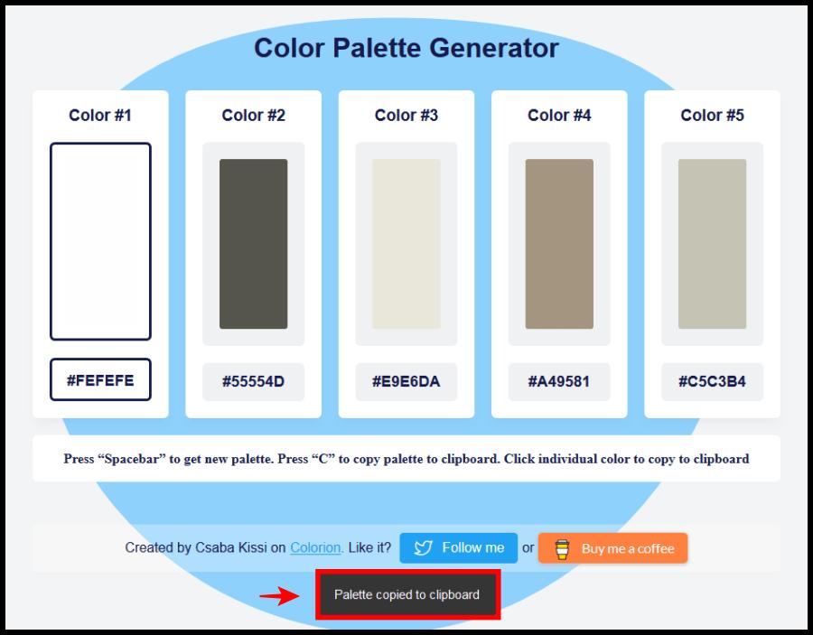 設計師的救星 Color Palette Generator,免費線上調色盤顏色隨你搭配