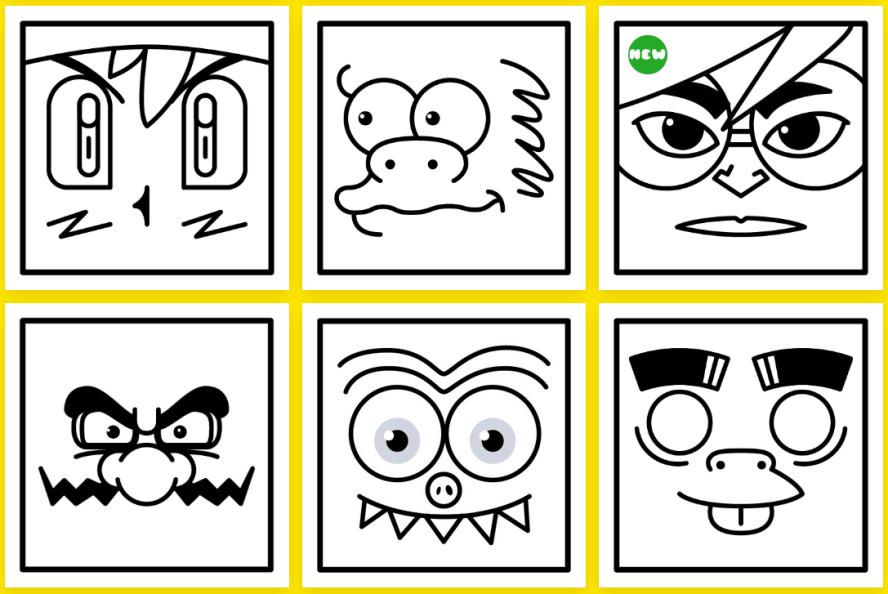 Coloring Popeyes 超人氣卡通臉部著色圖 ! 不花錢,小朋友塗鴉本自己印