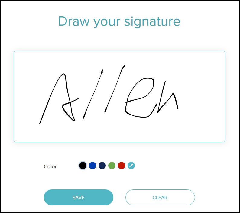 DocSketch 線上手寫簽名工具,可儲存 PNG 檔套用在你的作品上
