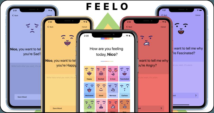Feelo 擁有 16 種情緒的表情日記,可記錄你每一天的喜怒哀樂!