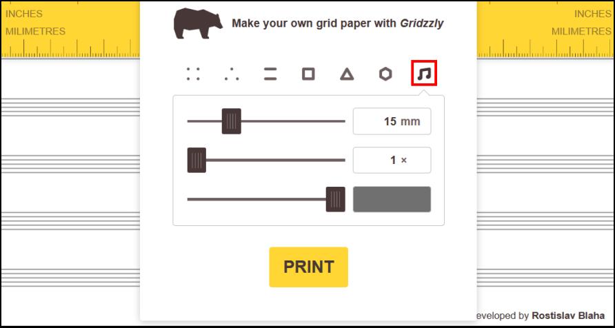 Gridzzly 能自製各種網格紙,並免費列印出來!對於要製作筆記本及草圖來說非常方便。