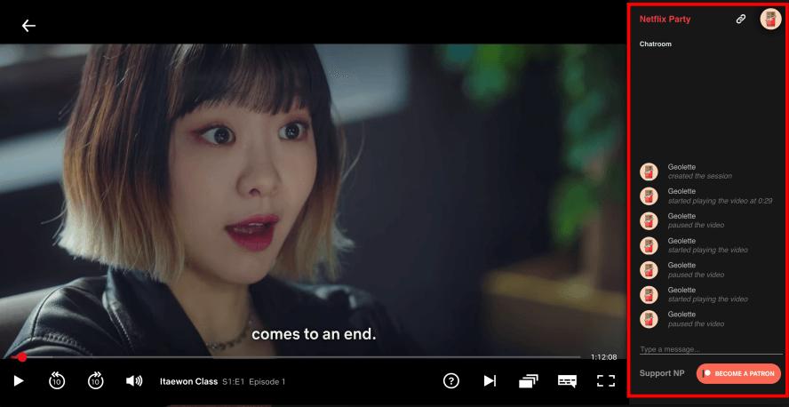 NetflixParty 能與好友一同觀賞 Netflix 影片並享有即時聊天功能的好工具!( Chrome 套件 )