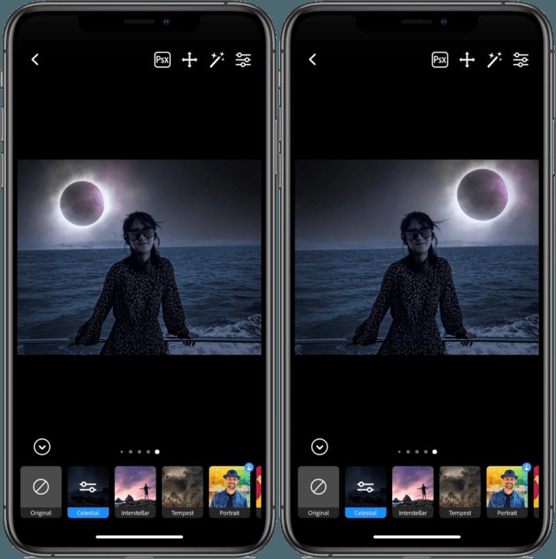 Photoshop Camera App 超強大的濾鏡效果,可將照片中祥和的天空變成閃電交加的天氣 !