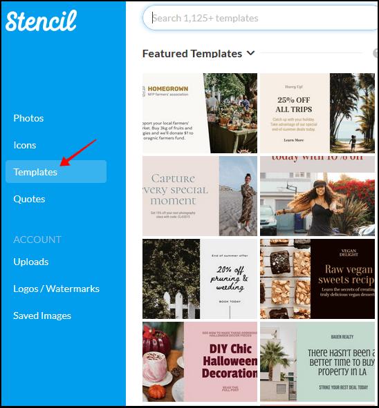 Stencil 擁有內建超過 76 萬張圖片編輯工具,能為各大社群平台做出精美的行銷圖片