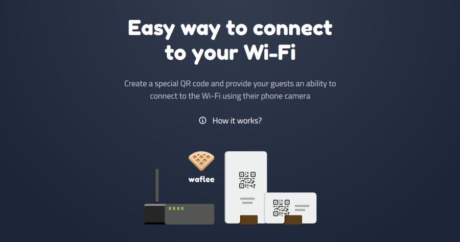 Waflee 免費線上列印 Wi-Fi QR Code 產生器,讓客人方便掃描到 Wi-Fi 的好工具
