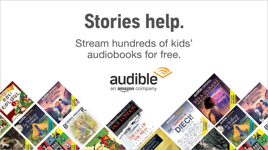 亞馬遜 Audible Stories 線上有聲書,適合大小孩一同學習語言的好地方!
