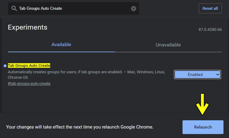 Google Chrome 87 正式版,教你如何開啟「自動創建群組標籤」功能!