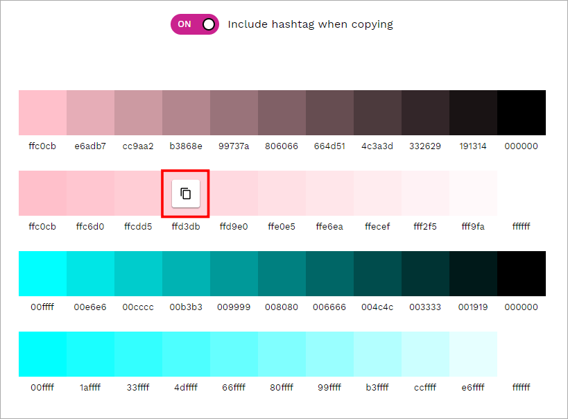 Tint & Shade Generator 線上漸層色調產生器,是設計師不能錯過的好工具!