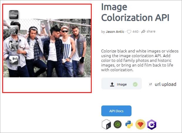 Image Colorization 線上自動幫黑白照增添色彩工具,立即使用無須註冊!