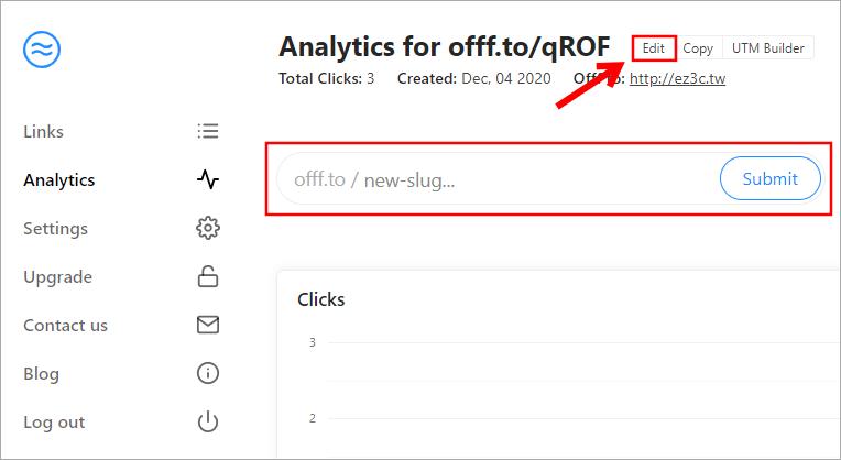 OFFF 免費縮網址網站,網址最前端輸入 offf.to/ 立即將網址縮短!