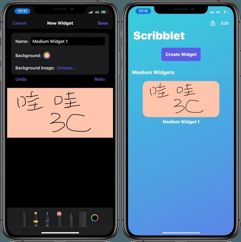 Scribblet 手寫與繪圖小工具,讓你在 iPhone 螢幕上放上待辦事項與繪畫作品