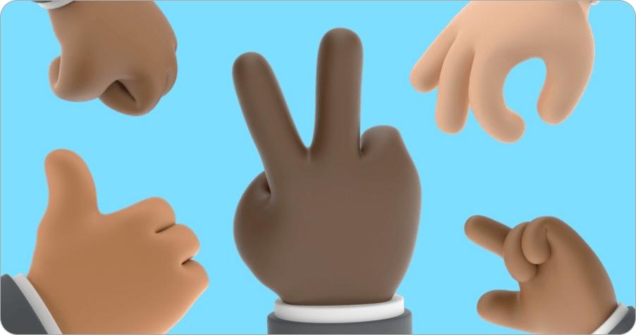 Shapefest 3,000 Hands 手勢素材庫,共有多達 3,000 種手勢組合讓你免費下載!