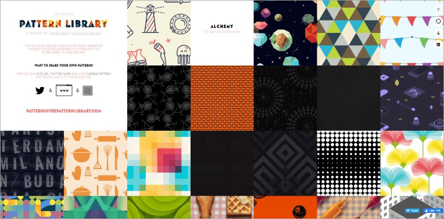 The Pattern Library 免費 50 多張無接縫精美背景圖庫,讓你簡報畫面更吸引人!