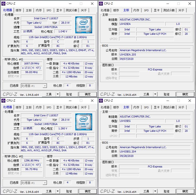 ASUS ZenBook 14 (UX425) 與 ASUS ZenBook 14 (UX435)跑分校能比較