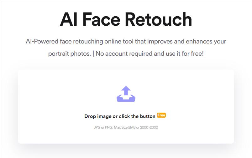 AI Face Retouch 超強臉部自動修飾工具,無須註冊即可免費使用!