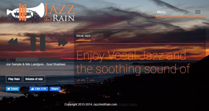 JAZZ and RAIN 最適合調整情緒的五種情境爵士音樂網,還可搭配雨聲讓你更專注!