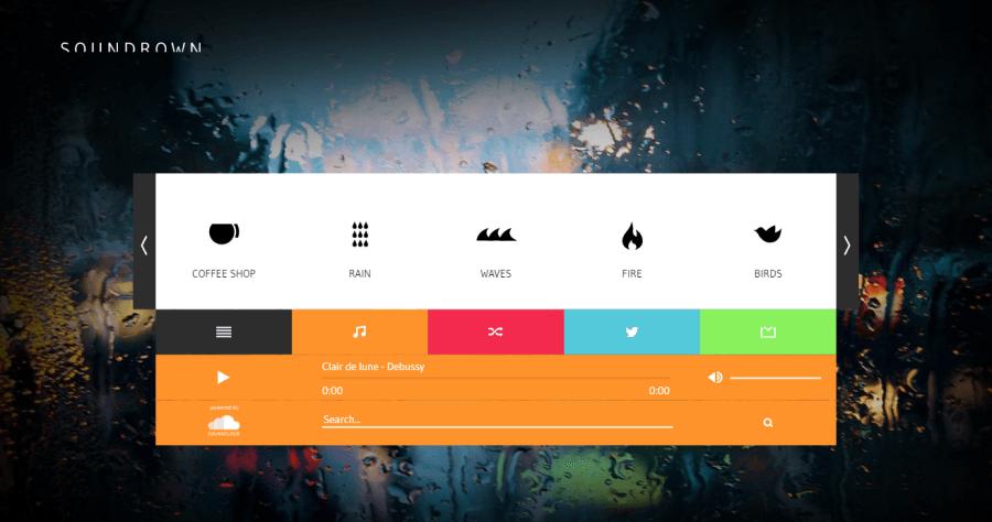 SounDrown 線上環境音效網,讓自己創造出更專注、放鬆的空間!