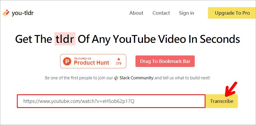 you-tldr 抓取 YouTube 影片段落文字工具,讓你學英文更方便!