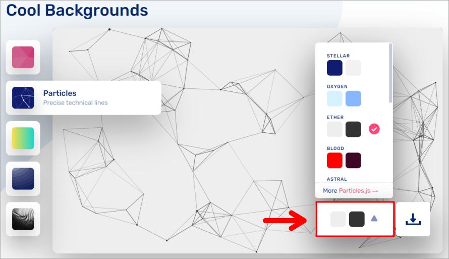 Cool Backgrounds 線上背景產生器,5種酷炫背景樣式讓你隨意挑選!