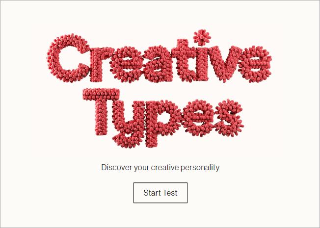 Creative Type 超神準心理測驗網站,能測出你的真實個性與未來發展性!