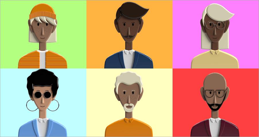 Power People Platform 好看的 3D 人物頭像 PNG 素材!共有 12 個角色,免費並可商用!