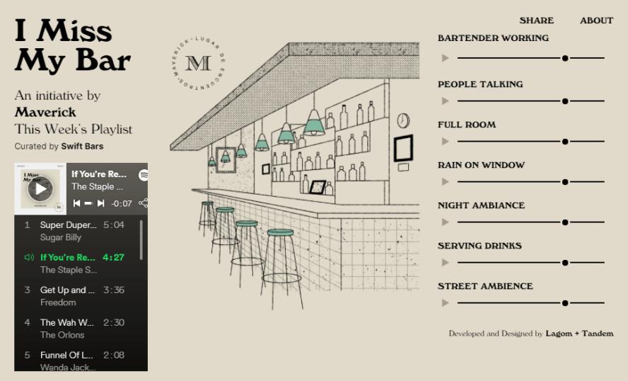 I MIss My Bar 模擬酒吧環境音效網!因疫情不能去酒吧的你,也能在家感受到酒吧的氣氛!