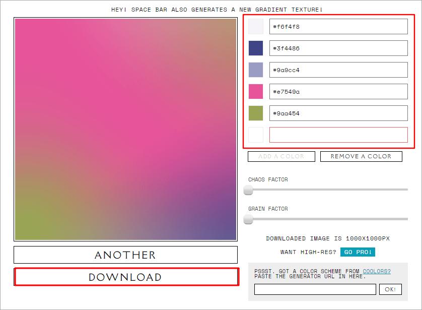 NOISE & GRADIENT 時尚漸層背景製造機,6 種顏色混搭任你配!