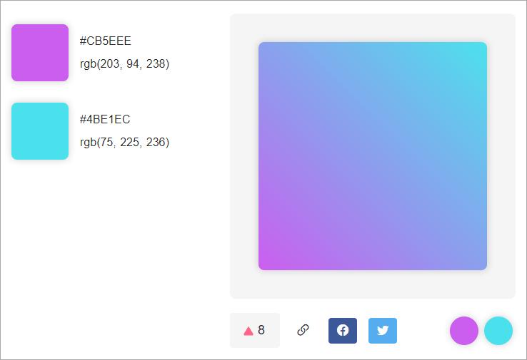 InstaHues 超實用的線上選色工具,單一色/漸層色/自創色任你選!