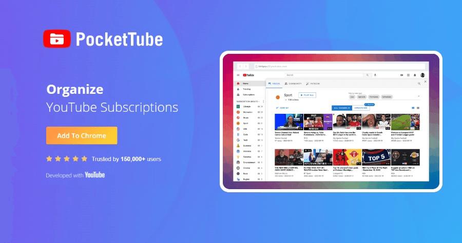 PocketTube 最好的 YouTube 頻道整理工具,輕鬆讓你的頻道井然有序!