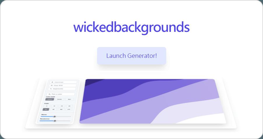 Wicked Backgrounds 超美的 SVG 漸層波浪背景圖產生器,可自訂波峰、角度、顏色深淺!