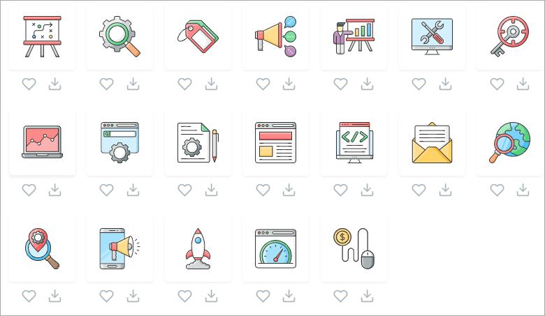 SVG Repo 擁有 30 萬以上的高品質 SVG icon 免費素材庫,做個人或商業用途都可以!