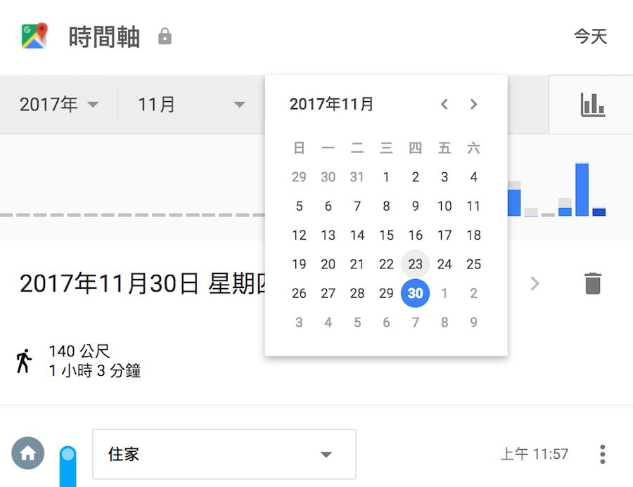 Google 移動紀錄