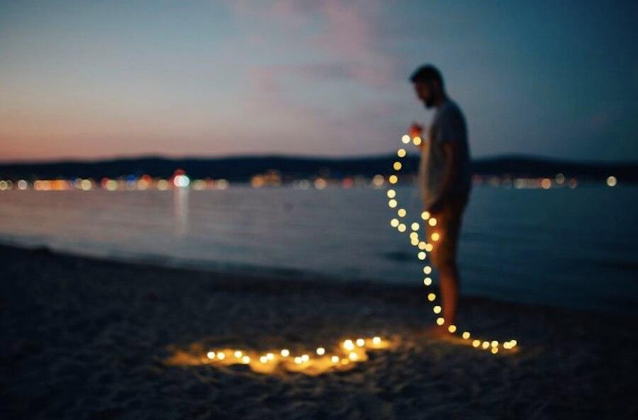 海邊 燈光 保加利亞 海灘 沙灘
