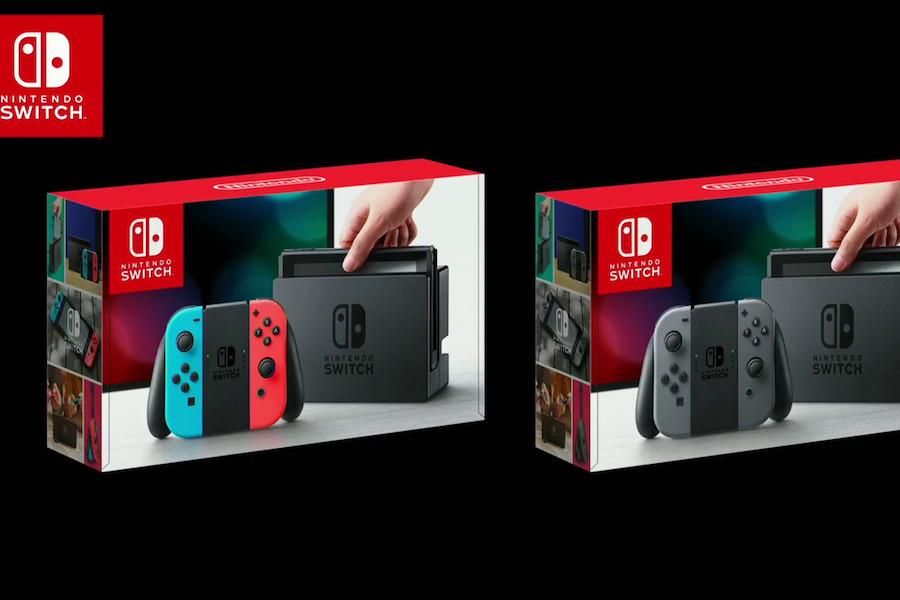 任天堂 Switch 顏色 電光藍 電光紅 灰色