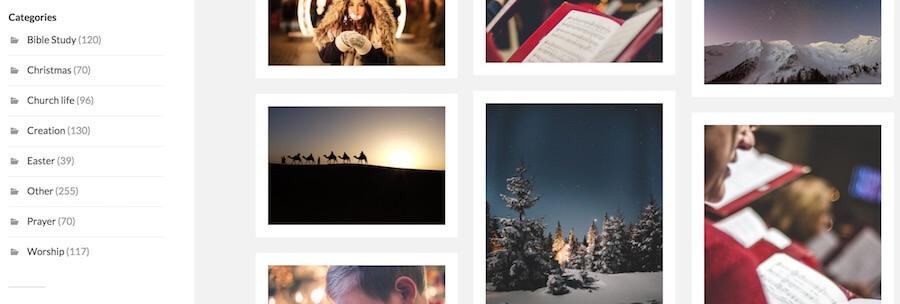 圖庫分類 聖誕節 復活節 教堂 禱告