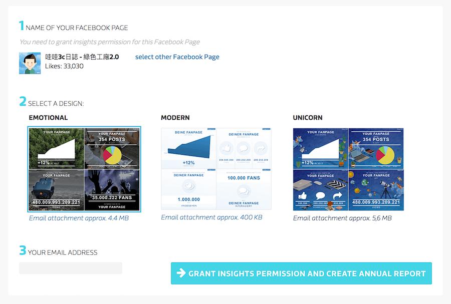 Fanpage Karma 粉絲專頁 樣式 Email 分析報告